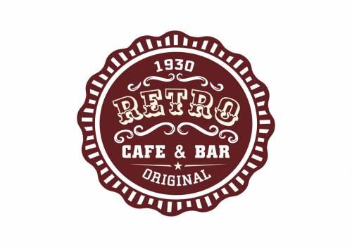 Restoran, kafe ve bar için logo ve logo öğeleri kümesi